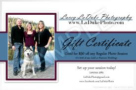 gift card discounts photography gift certificates eugene laduke photography