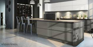gray gloss kitchen cabinets handleless kitchen doors high gloss replacement kitchen doors and