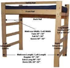 bunk bed measurements loft bed design measurements 3 sizes sadie room pinterest