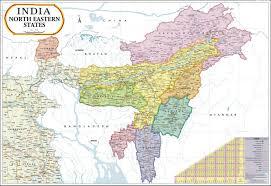 World Map Poster India by North East India Map Meghalaya Manipur Mizoram Sikkim