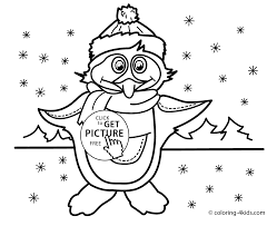 winter coloring pages penguin kids seasons coloring pages