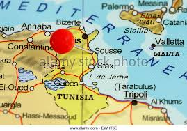 tunisia map map of tunisia stock photos map of tunisia stock images alamy