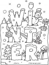 coloring pages about winter free printable winter coloring pages for preschoolers printable
