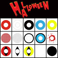 promotion wholesale cheap halloween crazy zombie colored contact