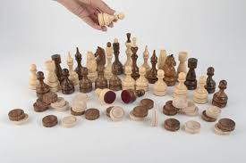 madeheart u003e handmade wooden table game chess and checkers