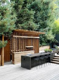 Outdoor Kitchen Furniture by Beyond The Barbecue 15 Streamlined Kitchens For Outdoor Cooking
