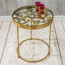 gold butterfly side table furniture graham and green