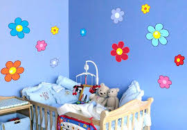 decorating bedroom ideas flowers for kids wall decal set cute
