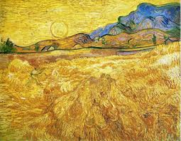 enclosed field with reaper vincent van gogh paintings wallpaper