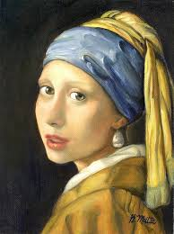 painting the girl with the pearl earring girl with a pearl earring painting by gretchen matta