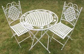 white round outdoor patio table maribelle white round metal floral designed folding outdoor garden