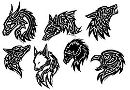 black wolf tattoos on