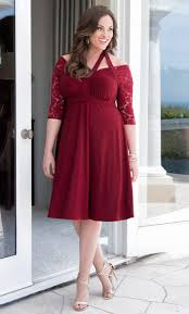 Red Cocktail Dress Plus Size Plus Size Formal Dresses Special Occasion Lace Dresses Kiyonna