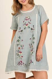 umgee usa floral embroidered dress from texas by it u0027s swice