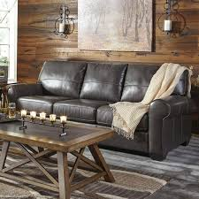 Peyton Leather Sofa Ashley Canterelli Gray Leather Sofa Weekends Only Furniture And