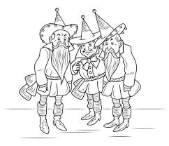 wizard of oz munchkins coloring page free printable coloring pages