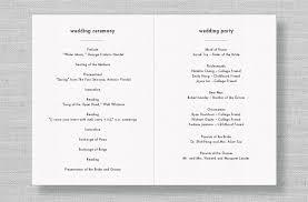 Modern Wedding Program Wedding Ceremony Program Outline Order Diy Wedding U2022 19804