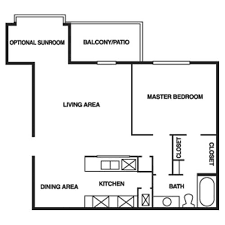 one bedroom floor plan 1 and 2 bedroom open floor plans regency woods apartments