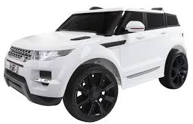 white and pink jeep ride on range rover style 12v electric jeep