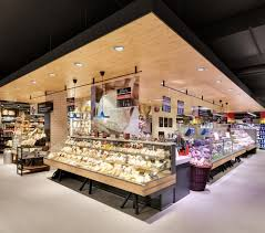 design market carrefour gourmet market by interstore design and