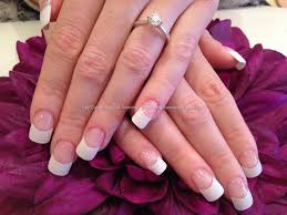 eye candy nails u0026 training white french polish acrylic tips by