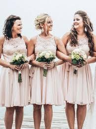 dusty wedding dress bridesmaid dress dusty pink lace bridesmaid dress summer