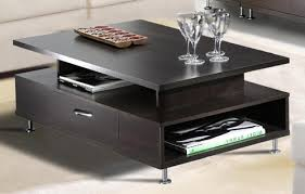 modern end table with drawer 10 best collection of modern coffee tables with storage detail