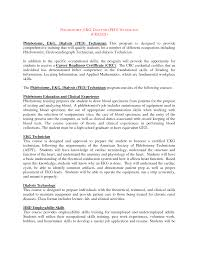 Sample Resume Objectives For Phlebotomy by Phlebotomy Resume Example Virtren Com