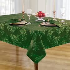 Dining Room Tablecloth Amazon Com Poinsettia Holiday Metallic Damask Fabric Christmas