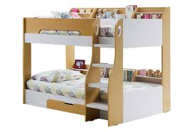 Flair Furnishings Flick Maple Triple Bunk Bed Bedsless - Joseph maple bunk bed