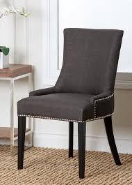 amazon com abbyson annalise fabric nailhead trim dining chair