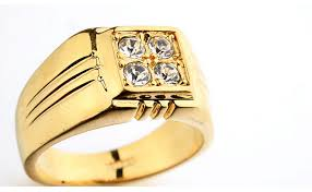 gold male rings images Hot sale men gold ring aaa zircon fashion jewelry rings plated 18k jpg