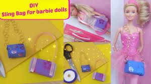 diy sling hand bag for barbie dolls holiday craft for kids