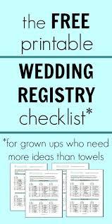 wedding registry idea things for wedding registry free printable wedding registry