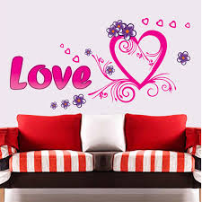 Heart Wall Stickers For Bedrooms Aliexpress Com Buy Love Heart Design Bedroom Living Room Wall