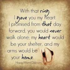 wedding quotes ring with that ring i gave you my heart marriage ring