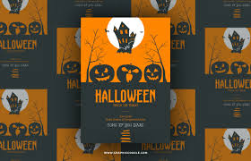 free printable halloween flyers free halloween trick or treat vector flyer template