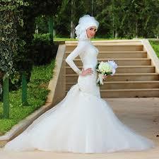 meerjungfrauen brautkleid moslemisches hochzeitskleid langarm meerjungfrau schatz