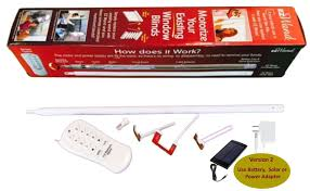 Automatic Blind Opener And Closer by Motorize And Automate Your Window Blinds By Replacing Your Wand