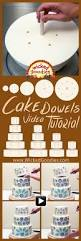wood cake dowels video tiered cakes tutorials and cake