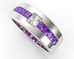 amethyst wedding rings princess cut amethyst wedding band for mens vidar jewelry