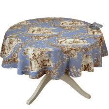 toile de jouy pastorale blue tablecloth i of