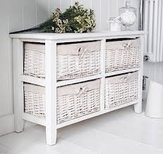 Bathroom Basket Drawers 4 Drawer Basket Storage White Bathroom Storage