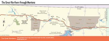 Map Montana The Great Northern Route Through Montana Road Trip Usa