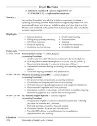 Sample Resumes For Accounting by Best Consultant Resume Example Livecareer