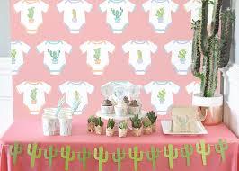 dessert table backdrop cactus baby shower 36 x 48 cake dessert table