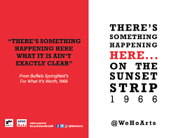 Various Television Vanity Cards There U0027s Something Happening Here Sunset Strip 1966 City Of West