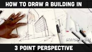 three building how to draw a building three point perspective