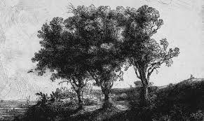 waichulis the three trees detail by rembrandt