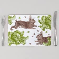 classic rabbit rabbit cabbage placemats by thornback peel